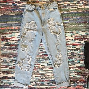 American Apparel Ripped Jeans (rare)